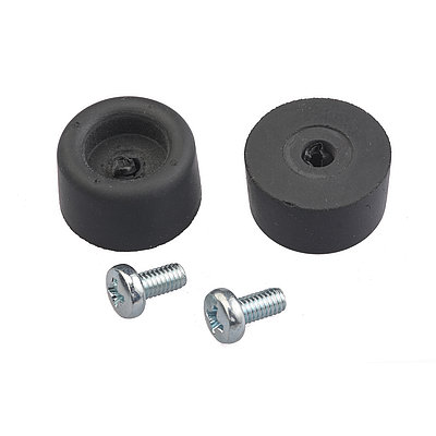 Rubber feet with screws Set
