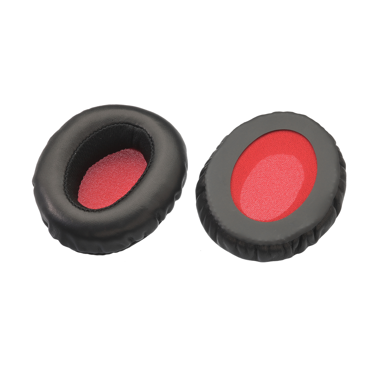 Ear pads, black/red