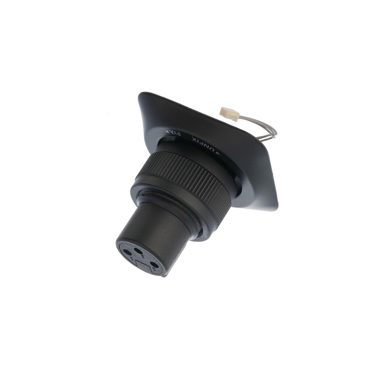 Flange with XLR plug socket