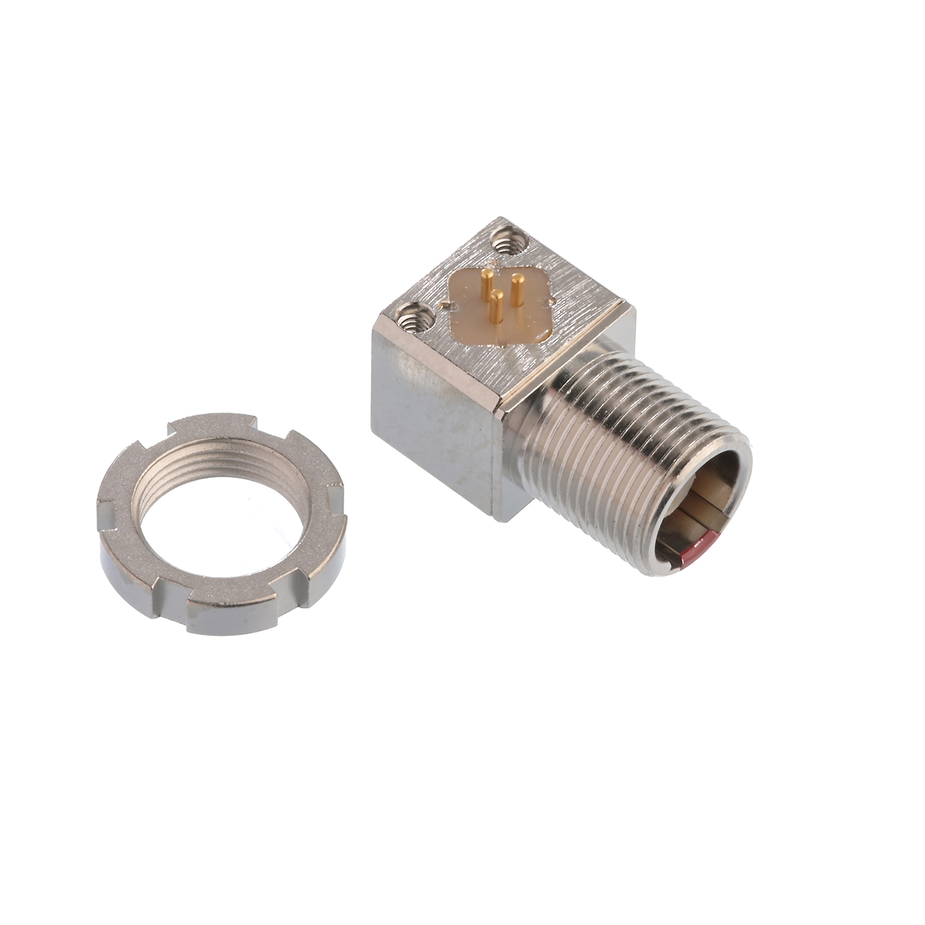 Socket 3-pin with slotted nut